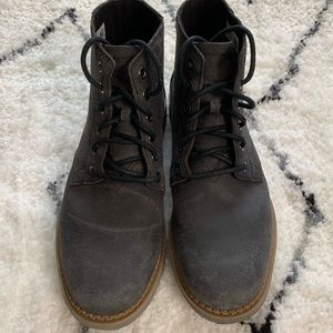 Tom's Porter Water Resistant Leather Men Boots